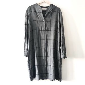 GR Nature Eco Grey Wool Checkered Tunic